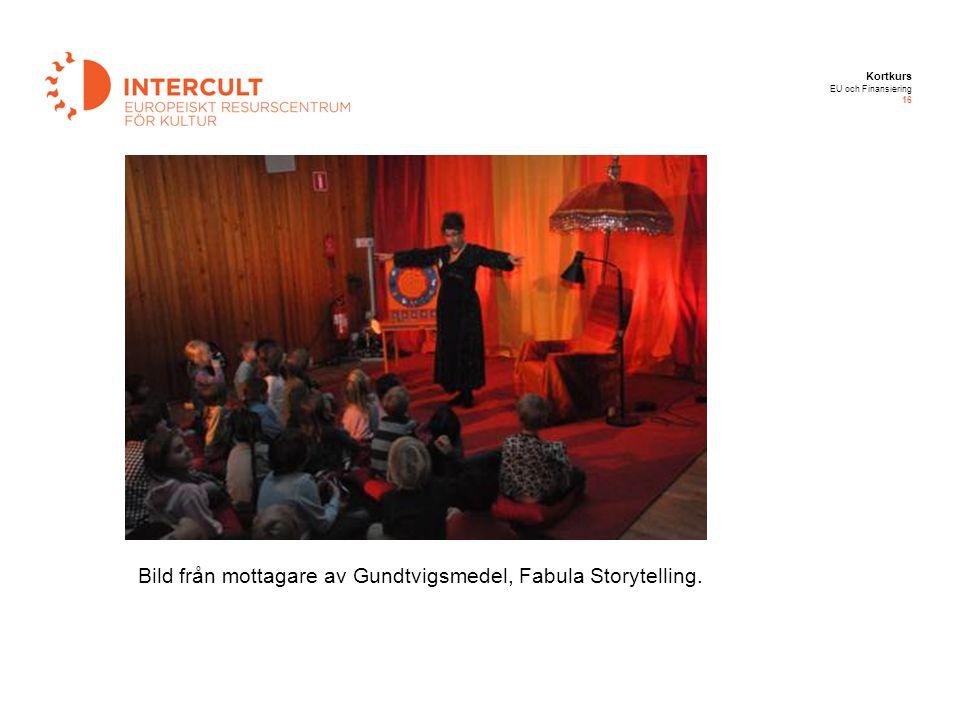 Kortkurs EU och Finansiering 16 Bild från mottagare av Gundtvigsmedel, Fabula Storytelling.