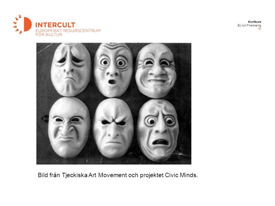 Kortkurs EU och Finansiering 23 Bild från Tjeckiska Art Movement och projektet Civic Minds.