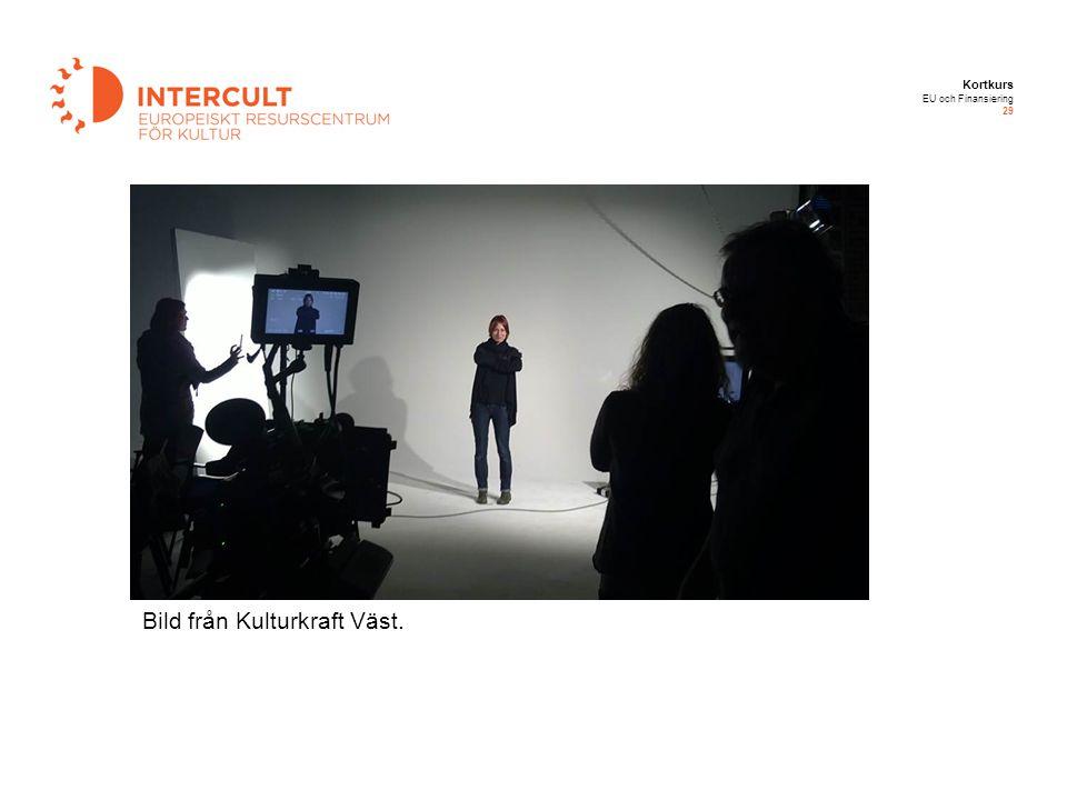 Kortkurs EU och Finansiering 29 Bild från Kulturkraft Väst.