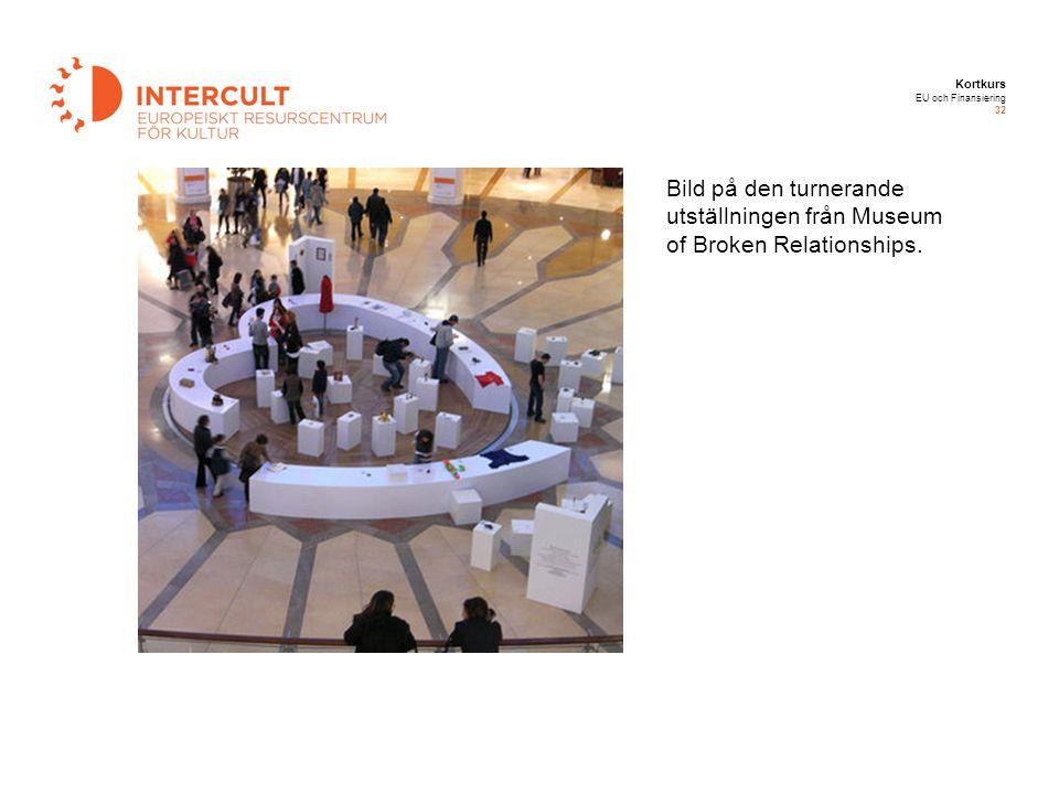 Kortkurs EU och Finansiering 32 Bild på den turnerande utställningen från Museum of Broken Relationships.