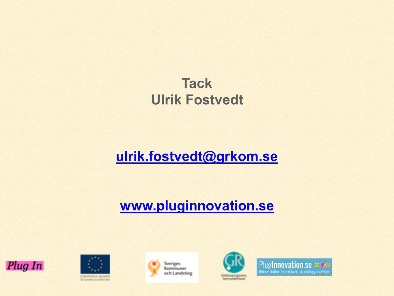 Tack Ulrik Fostvedt ulrik.fostvedt@grkom.se www.pluginnovation.se