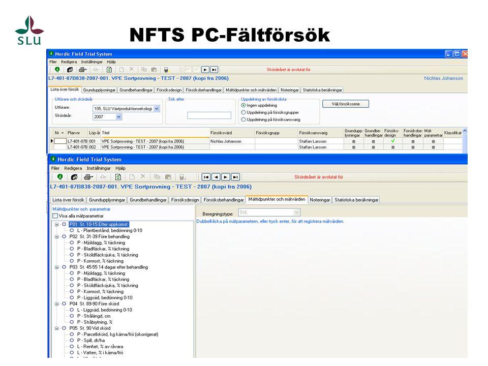 NFTS PC-Fältförsök