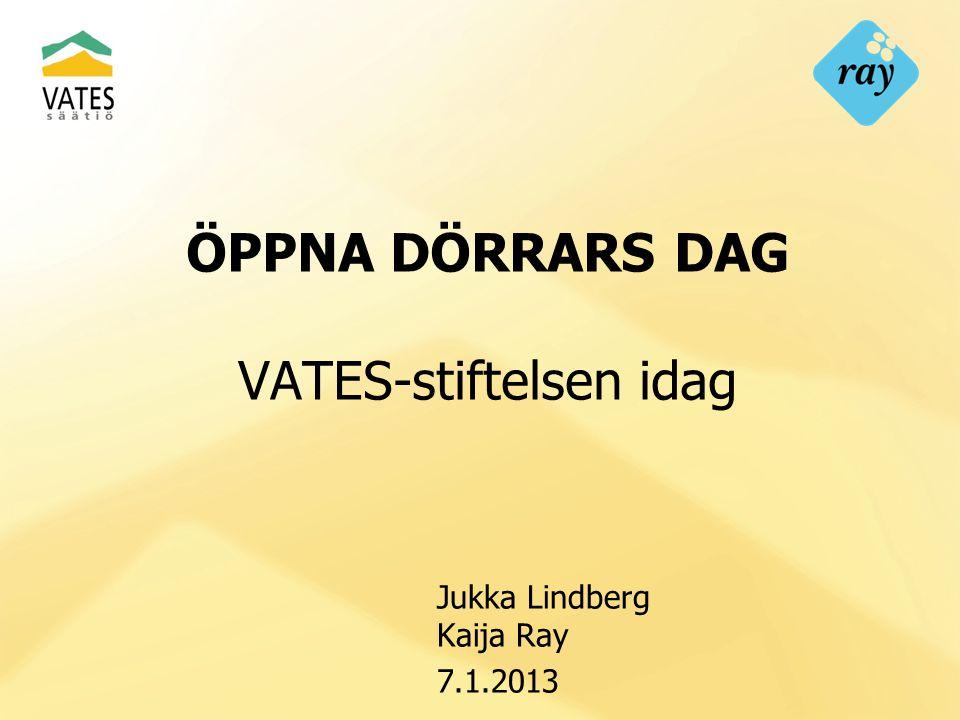 ÖPPNA DÖRRARS DAG VATES-stiftelsen idag Jukka Lindberg Kaija Ray 7.1.2013