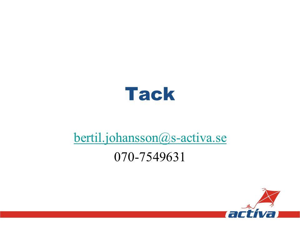 Tack bertil.johansson@s-activa.se 070-7549631