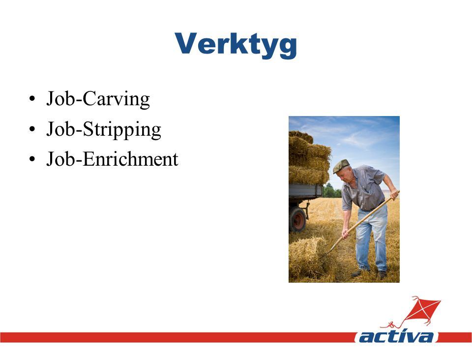 Verktyg Job-Carving Job-Stripping Job-Enrichment
