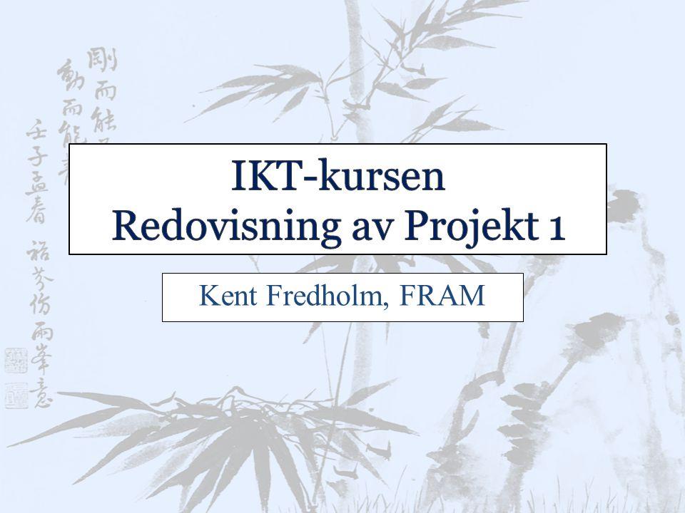Kent Fredholm, FRAM