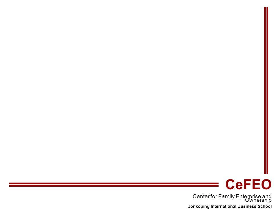 CeFEO Center for Family Enterprise and Ownership Jönköping International Business School