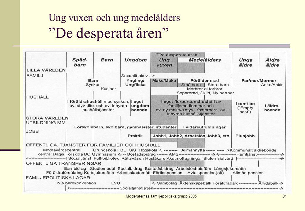 """Moderaternas familjepolitiska grupp 200531 Ung vuxen och ung medelålders """"De desperata åren"""""""