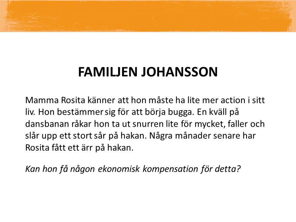 FAMILJEN JOHANSSON Mamma Rosita känner att hon måste ha lite mer action i sitt liv.