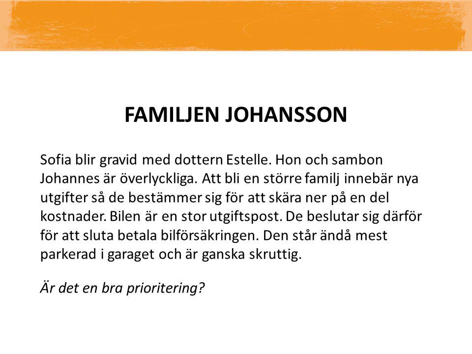 FAMILJEN JOHANSSON Sofia blir gravid med dottern Estelle. Hon och sambon Johannes är överlyckliga. Att bli en större familj innebär nya utgifter så de