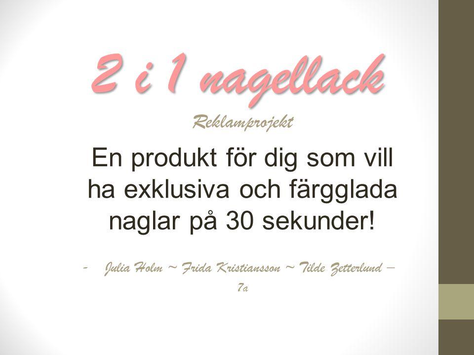 2 i 1 nagellack Reklamprojekt En produkt för dig som vill ha exklusiva och färgglada naglar på 30 sekunder.