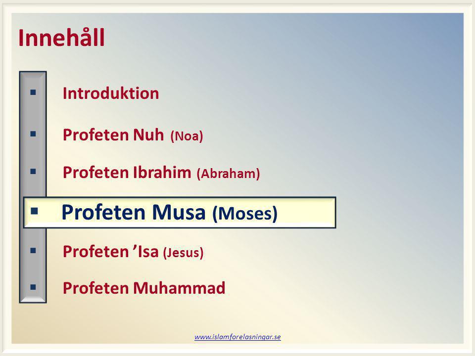 www.islamforelasningar.se Session 7 Vem kommer ihåg.
