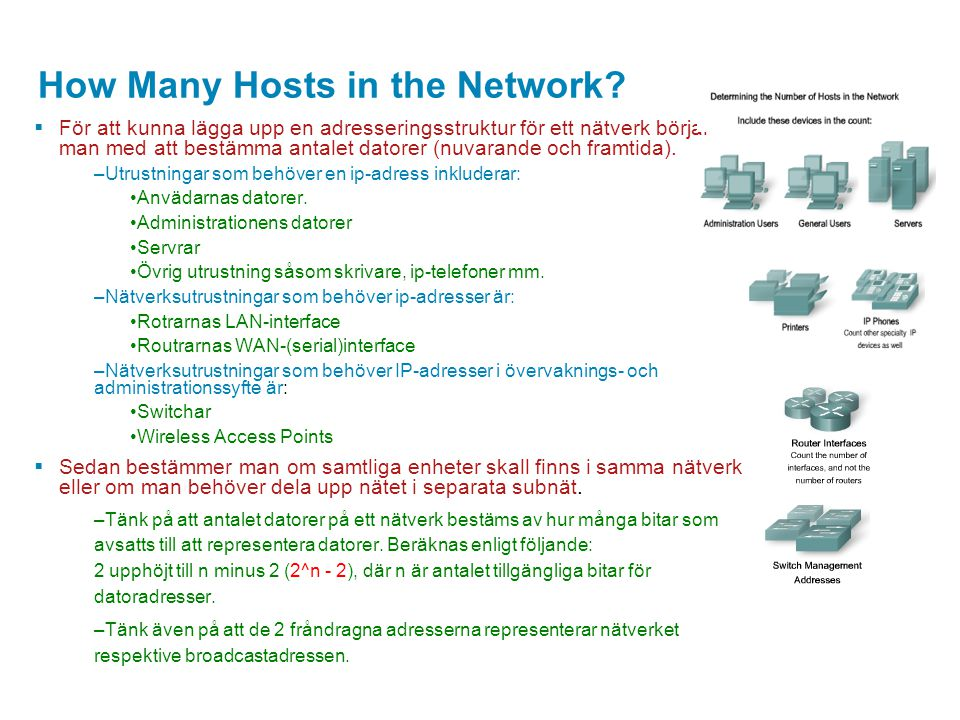 How Many Hosts in the Network.
