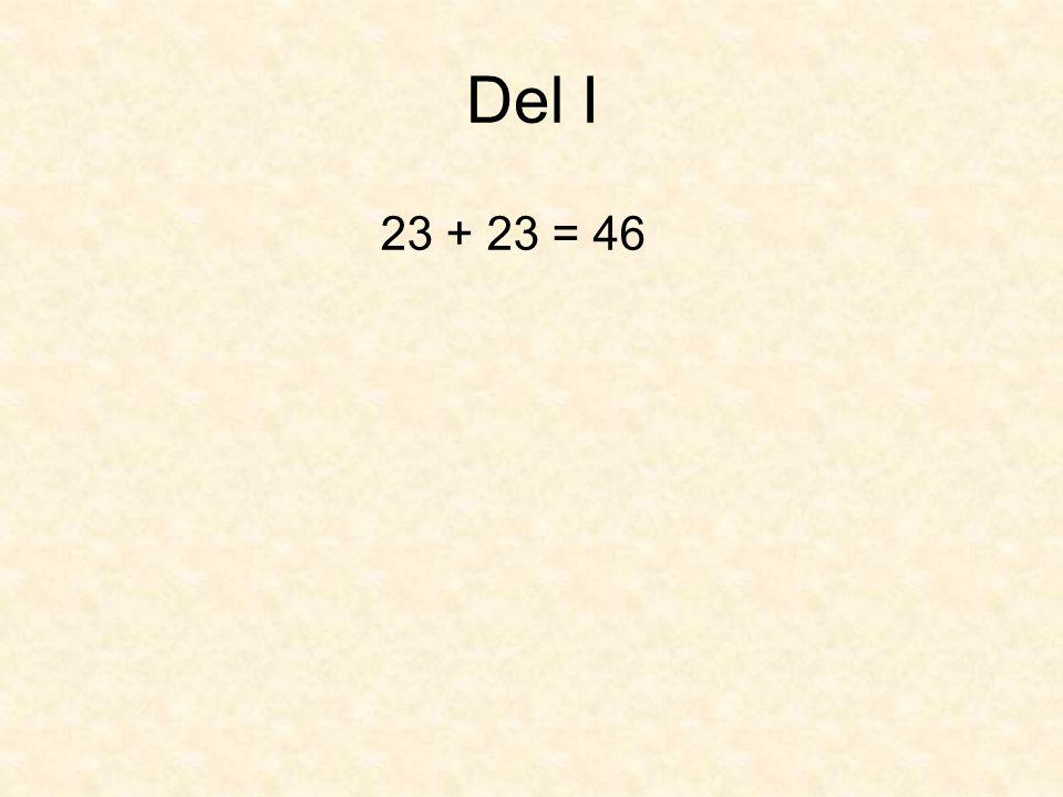 Del I 23 + 23 = 46