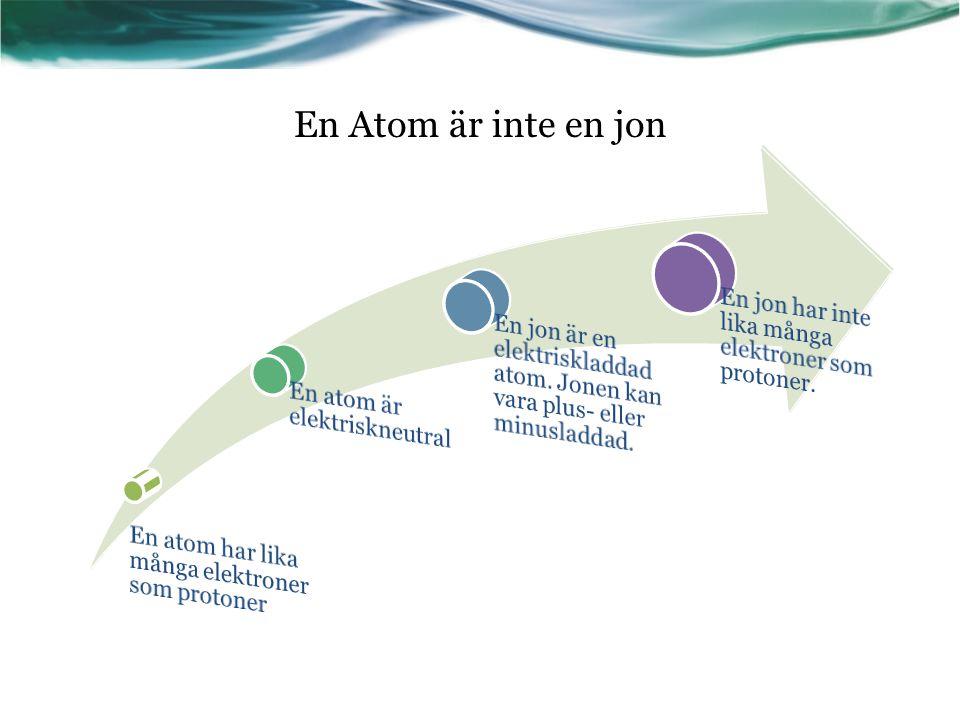 Atomnummer = antalet protoner som finns i en atom.