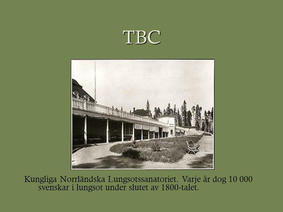 TBC Kungliga Norrländska Lungsotssanatoriet. Varje år dog 10 000 svenskar i lungsot under slutet av 1800-talet.