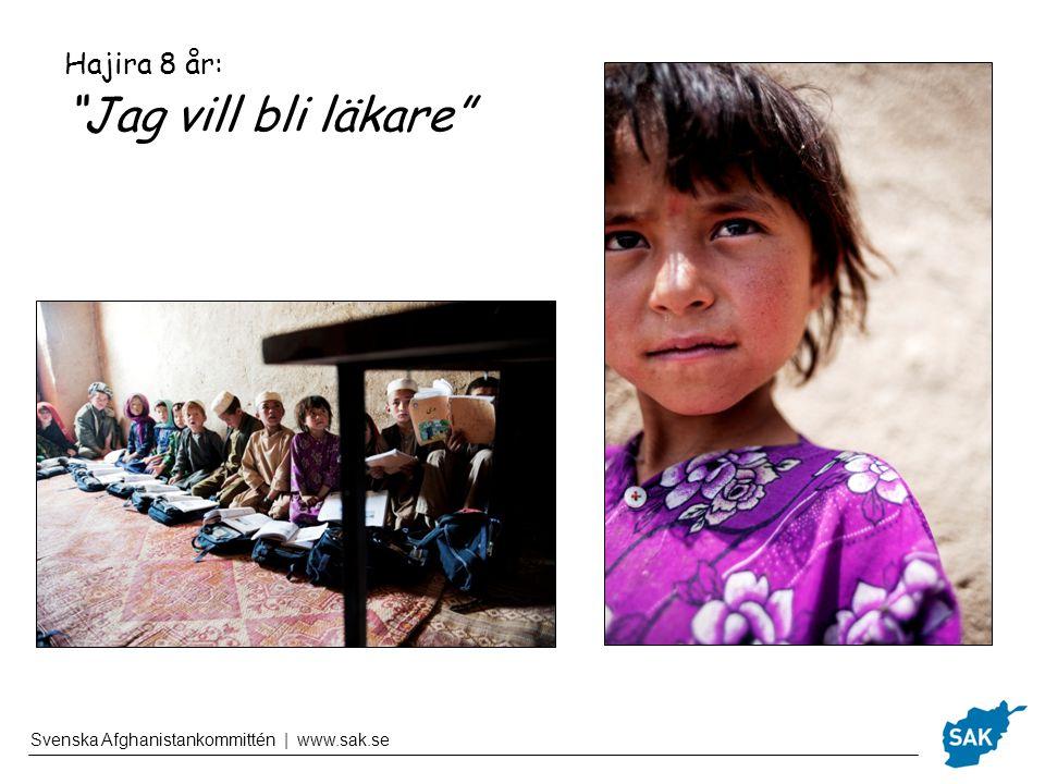 Svenska Afghanistankommittén | www.sak.se Dina pengar räcker till 200kr – Papper och pennor till en klass i ett år.
