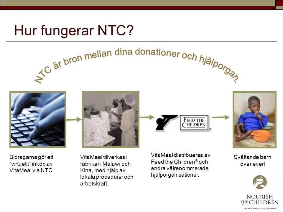 Hur fungerar NTC.Bidragarna gör ett virtuellt inköp av VitaMeal via NTC.