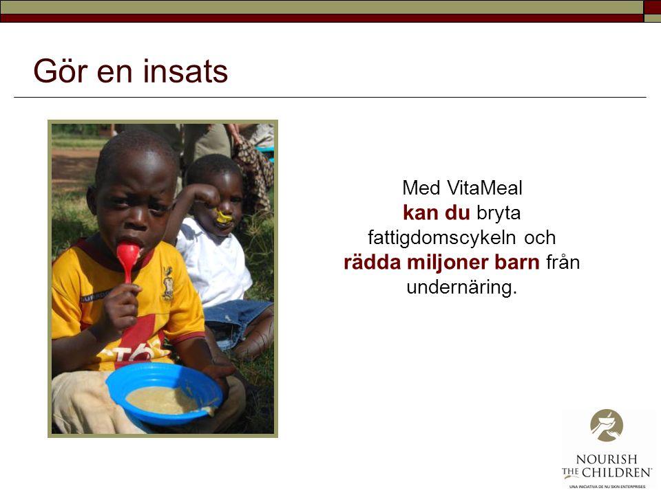 Vitaminbrist Infektioner & diarré > Oförmåga att uppta näring Inlärnings- och arbetssvårigheter Fattigdom & analfabetism Brist på näringsrik mat Ökad undernäring Fattigdomscykeln