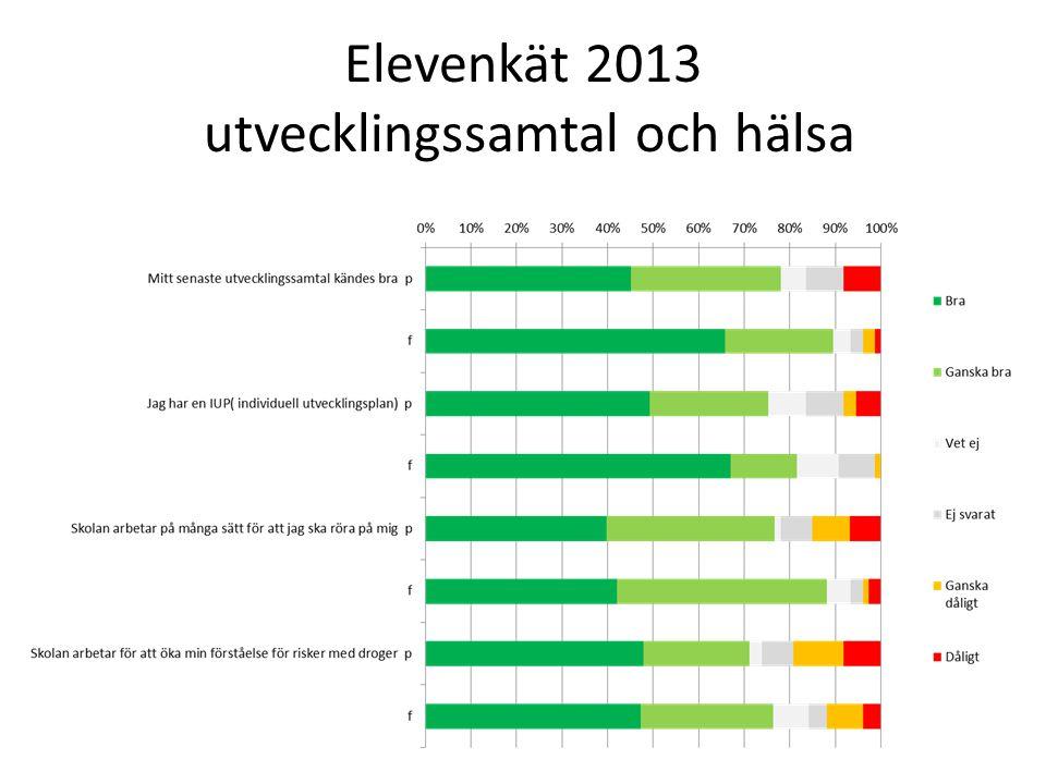 Elevenkät 2013 utvecklingssamtal och hälsa