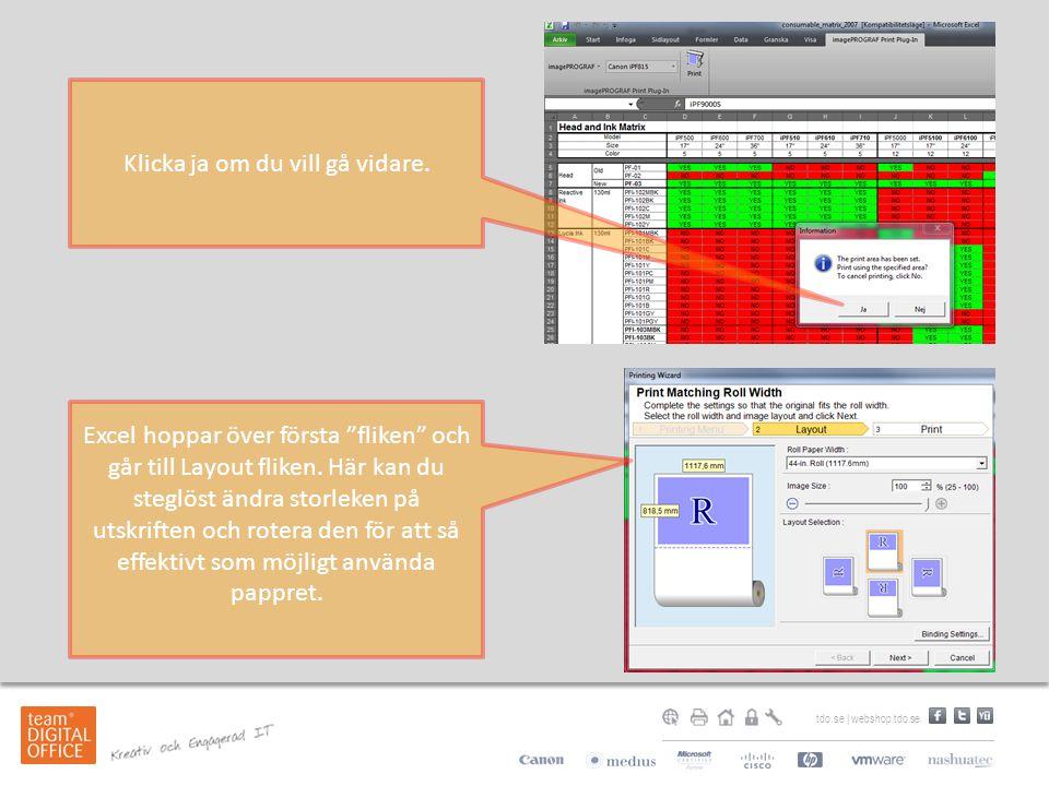 tdo.se | webshop.tdo.se Klicka ja om du vill gå vidare.