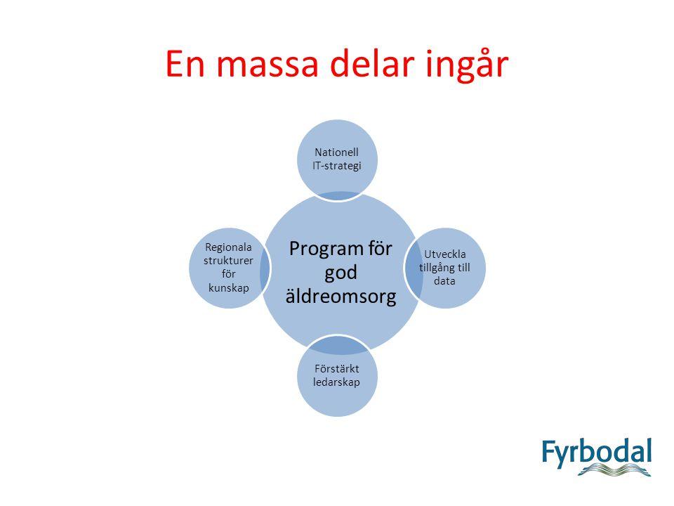 Nationell IT-strategi Om IT ska fungera maximalt i vård- och omsorg måste den tekniska infrastrukturen finnas på plats.