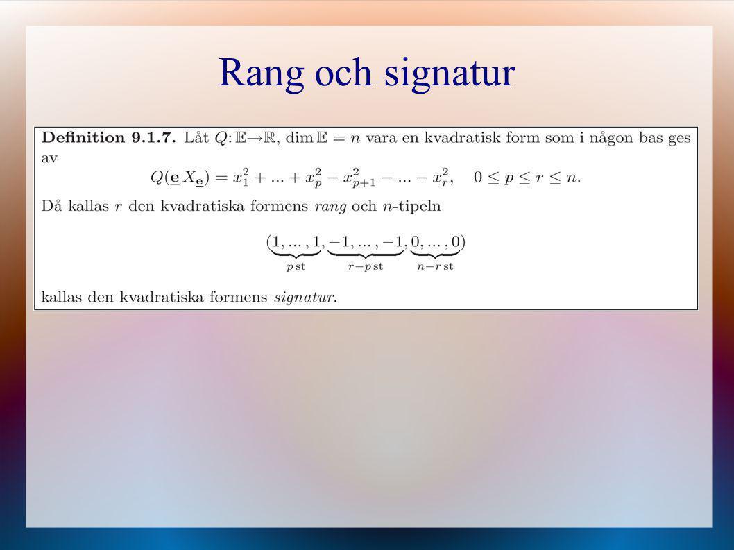 Rang och signatur