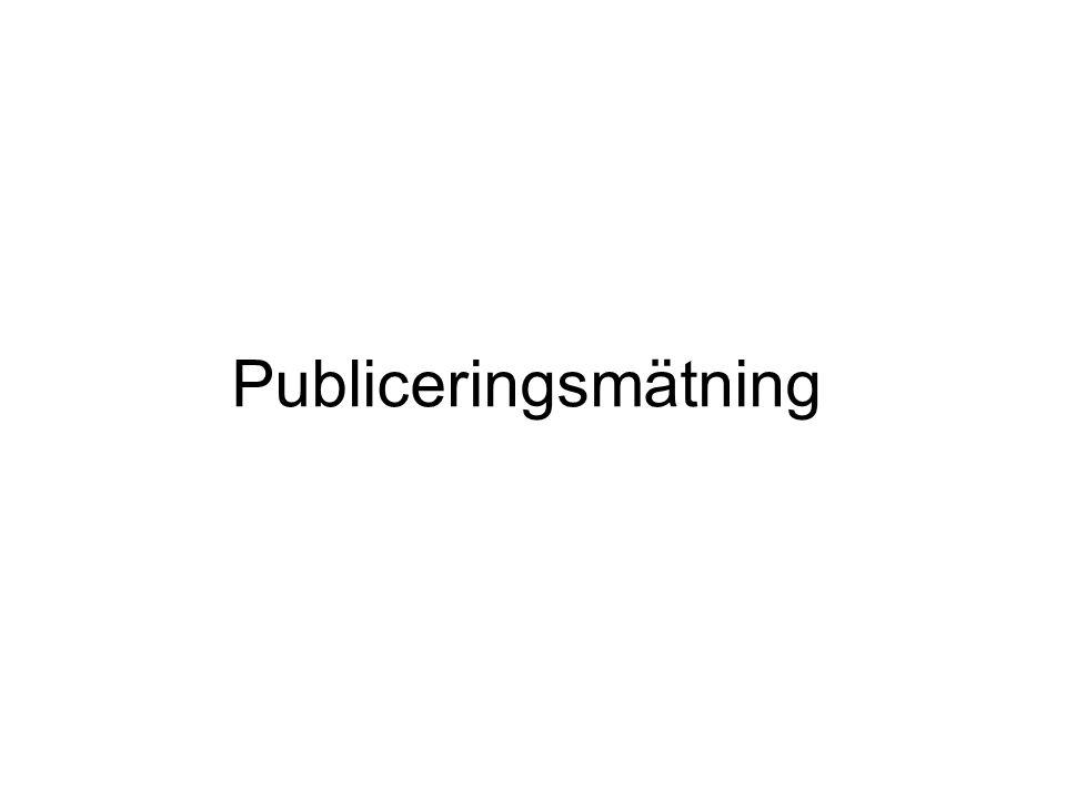 Publiceringsmätning