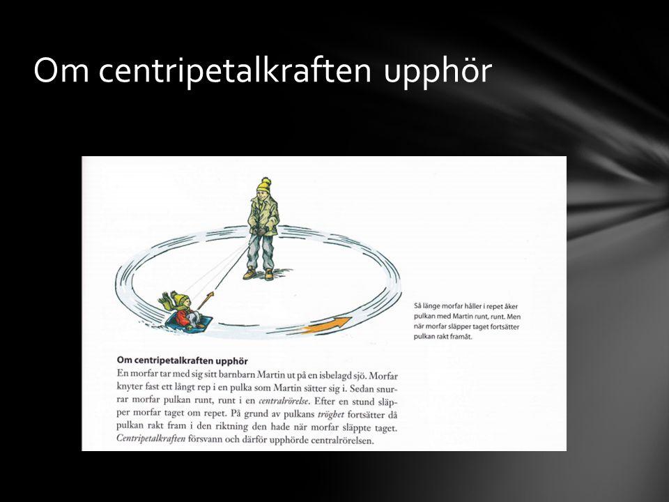 Om centripetalkraften upphör