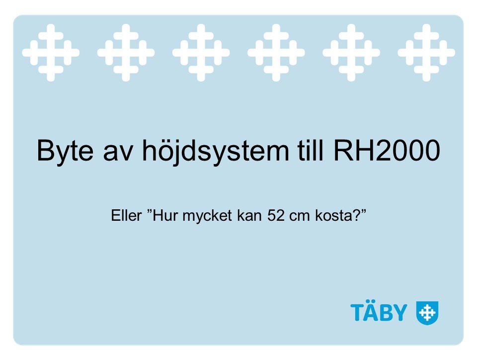 Byte av höjdsystem till RH2000 Eller Hur mycket kan 52 cm kosta?