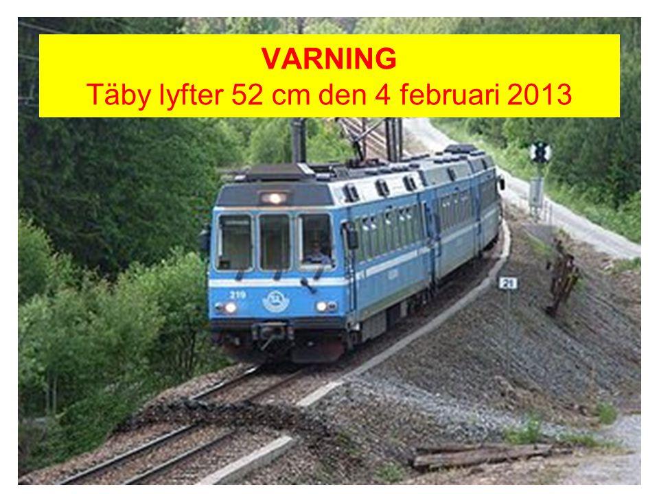 VARNING Täby lyfter 52 cm den 4 februari 2013