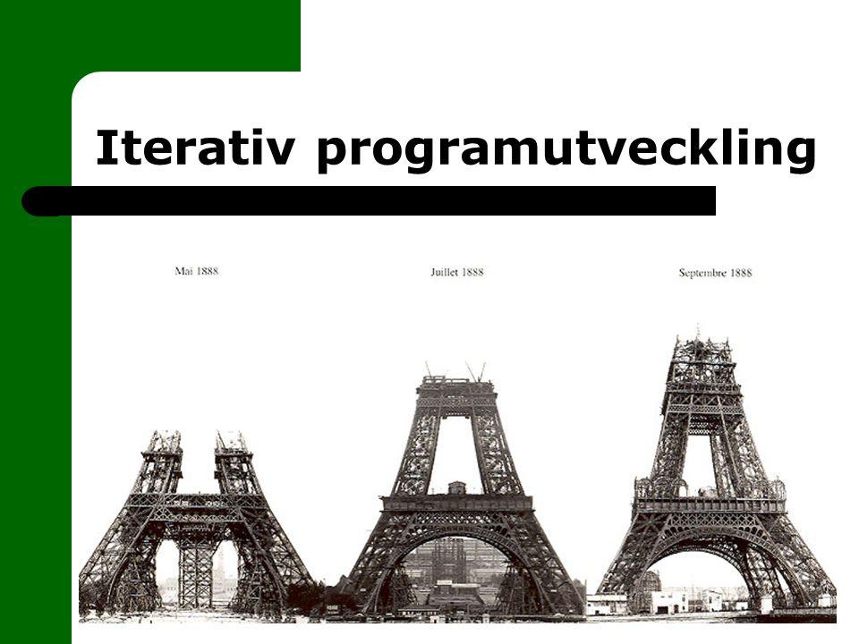 Iterativ programutveckling