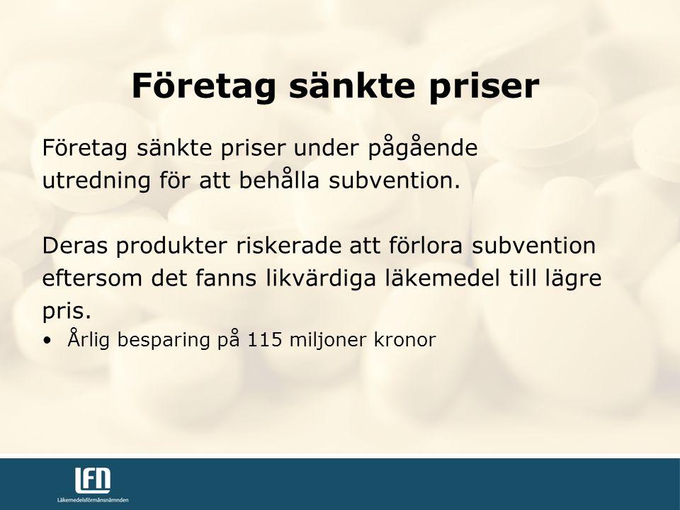 Företag sänkte priser under pågående utredning för att behålla subvention.
