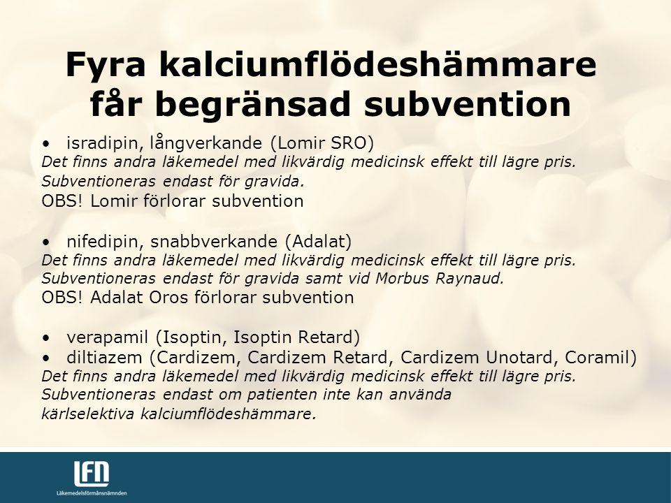 isradipin, långverkande (Lomir SRO) Det finns andra läkemedel med likvärdig medicinsk effekt till lägre pris.