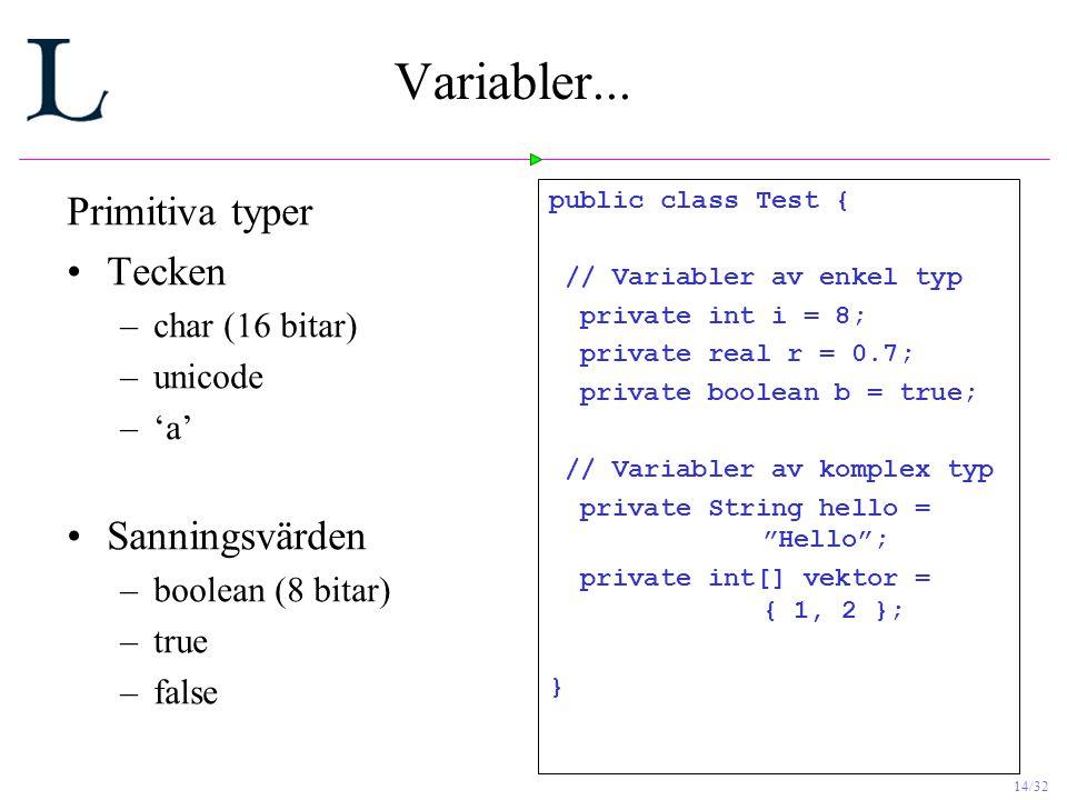 14/32 Variabler...