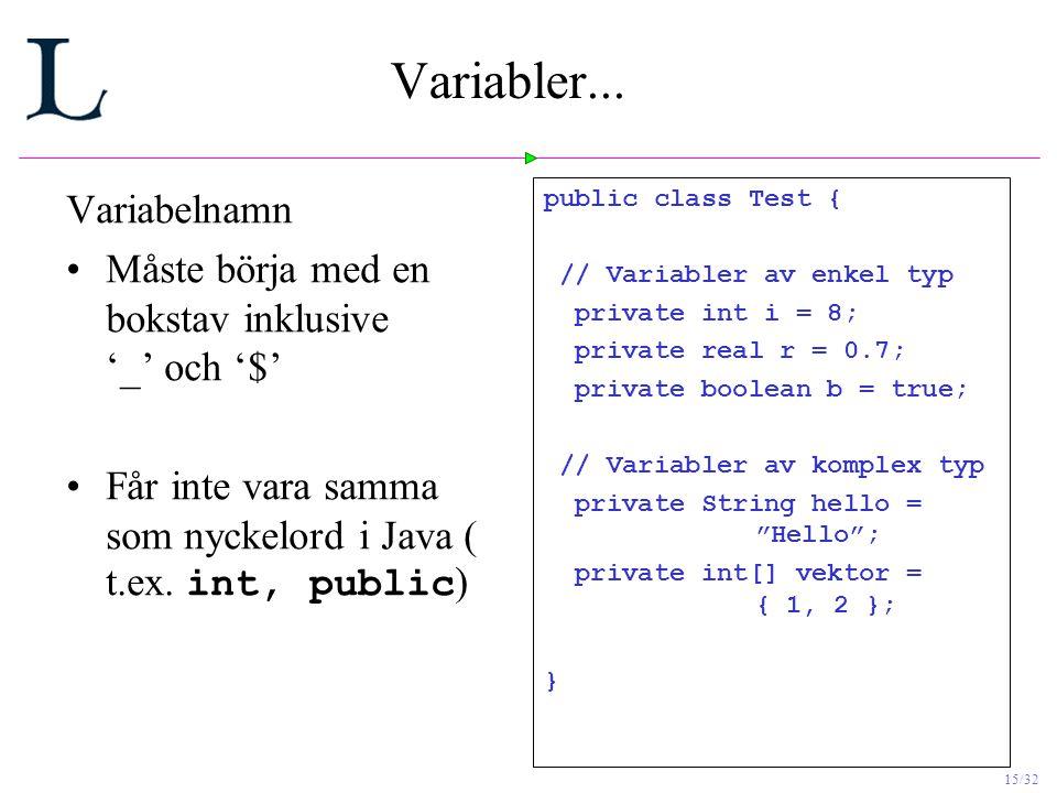 15/32 Variabler...