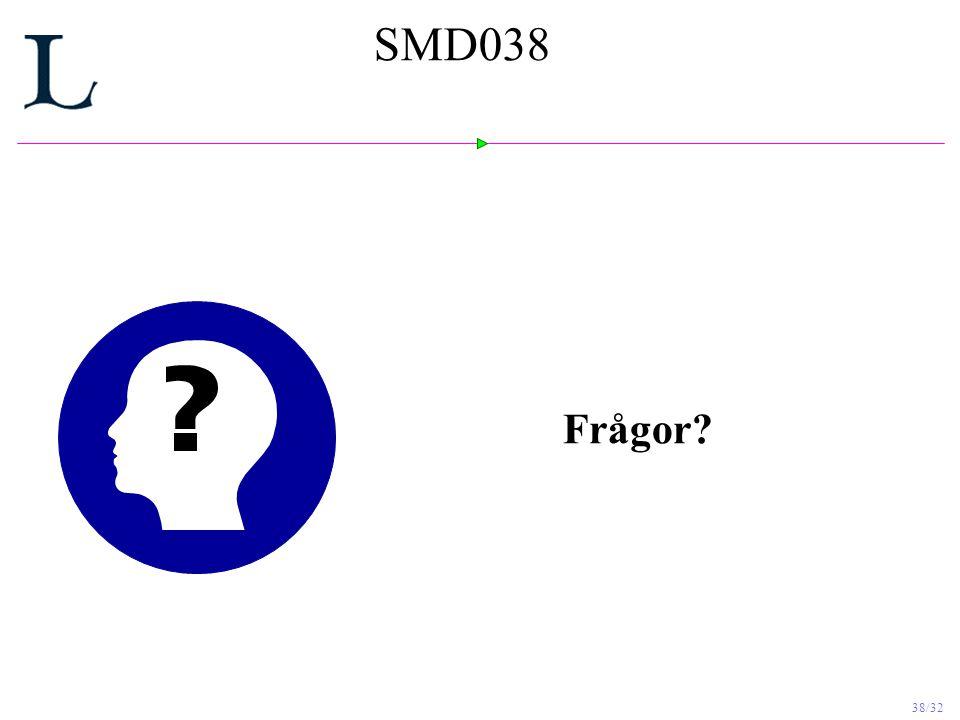 38/32 SMD038 Frågor?