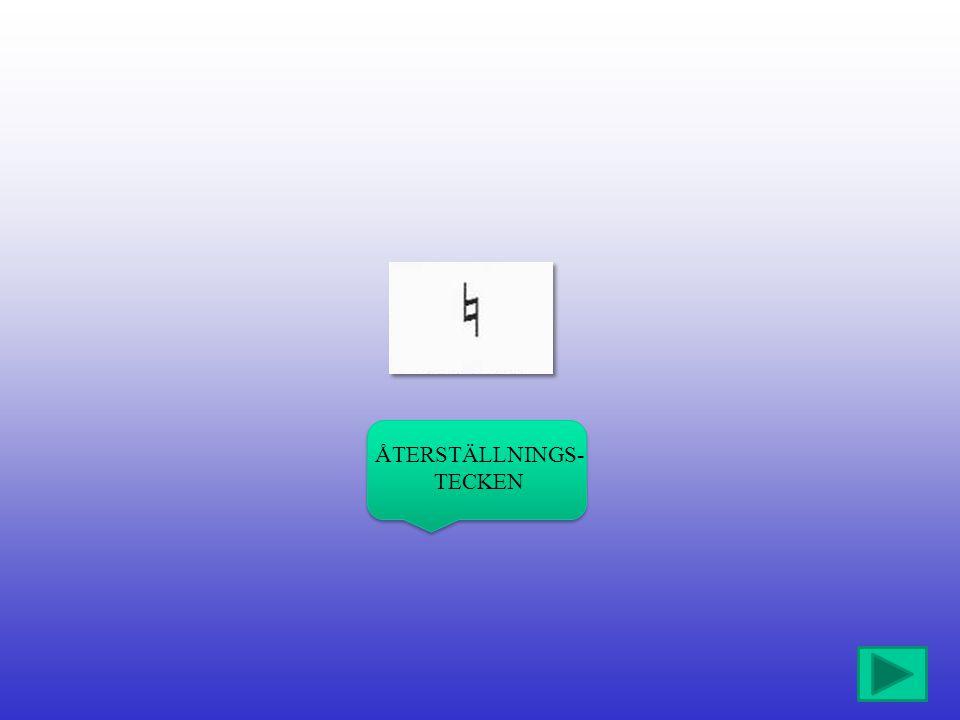 ÅTERSTÄLLNINGS- TECKEN