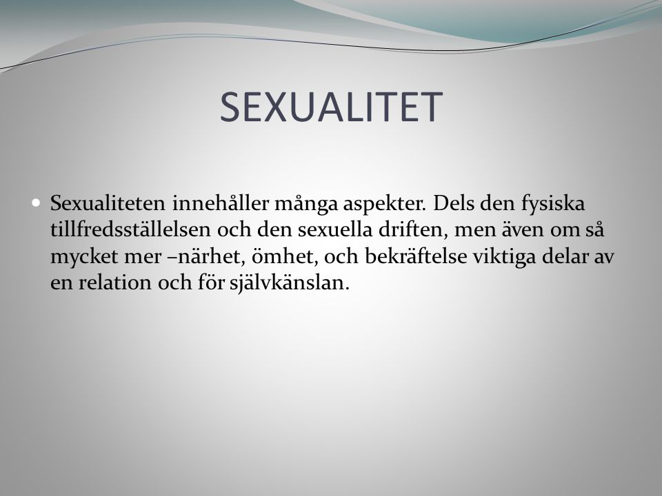 SEXUALITET FORTS.