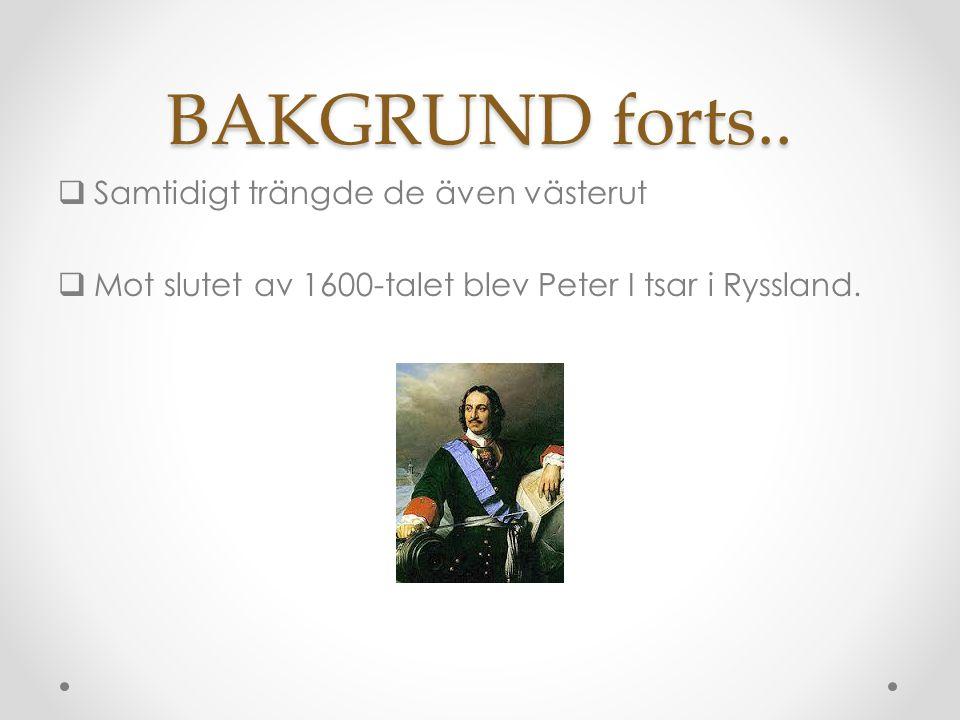 BAKGRUND forts..