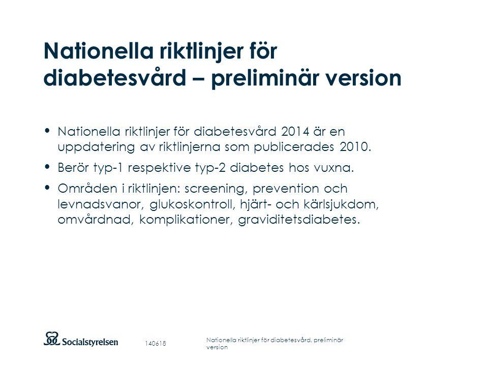Att visa fotnot, datum, sidnummer Klicka på fliken Infoga och klicka på ikonen sidhuvud/sidfot Klistra in text: Klistra in texten, klicka på ikonen (Ctrl), välj Behåll endast text Övergripande indikatorer för diabetesvård Indikator A1Dödlighet i hjärt- och kärlsjukdom Indikator A2Amputation ovan fotled Indikator A3Personer med diabetes med terminal njursvikt Indikator A4Dödföddhet och neonatal dödlighet bland enkelbörder Indikator A5Allvarliga fosterskador Indikator A6Förekomst av diabetesretinopati 140618 Nationella riktlinjer för diabetesvård, preliminär version