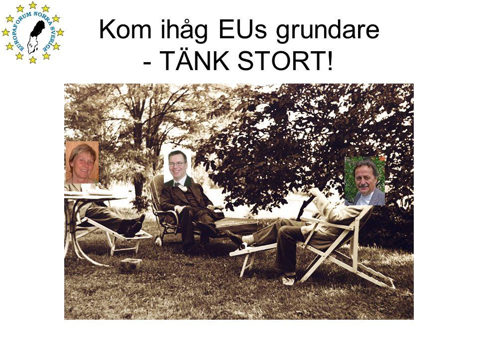 Kom ihåg EUs grundare - TÄNK STORT!