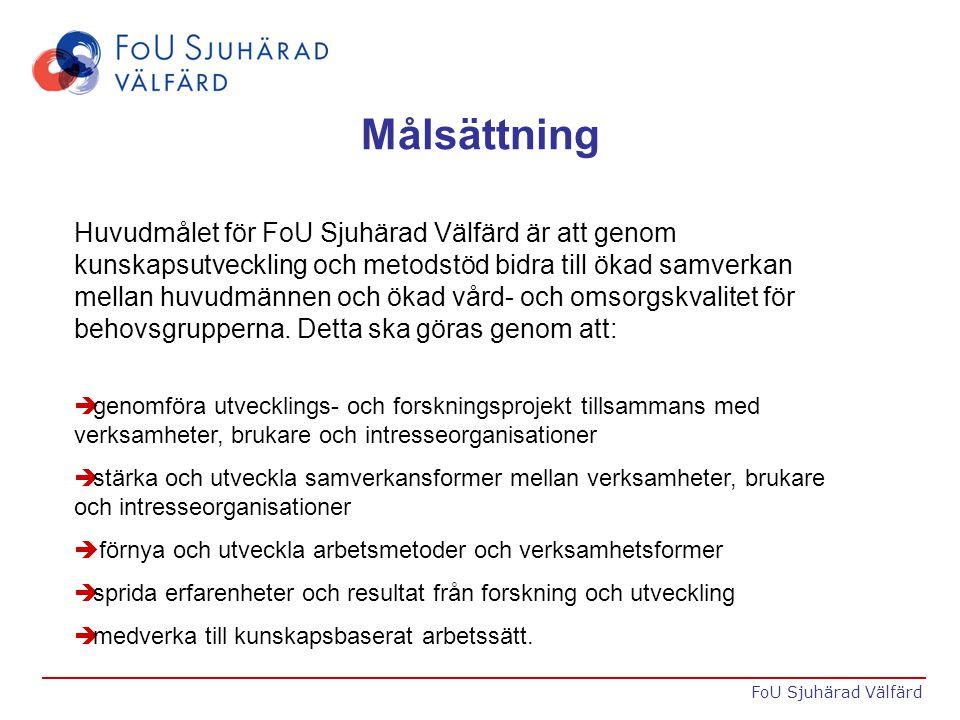 Exempel på verksamhet è Temadagar è Seminarier è FoU-caféer è FoU-cirklar è Konsultationer è FoU-stöd FoU Sjuhärad Välfärd