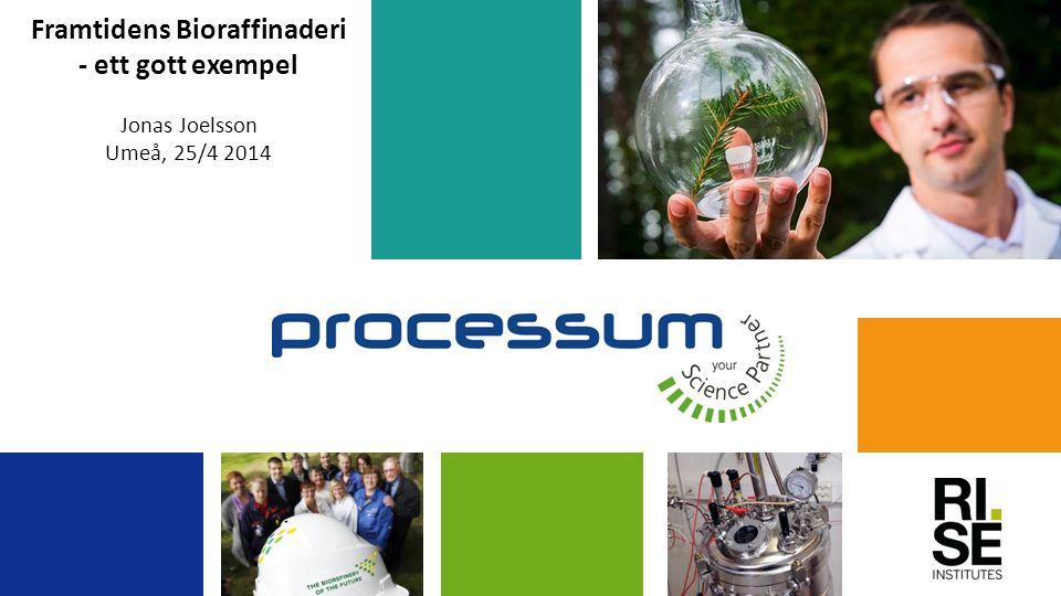Framtidens Bioraffinaderi - ett gott exempel Jonas Joelsson Umeå, 25/4 2014