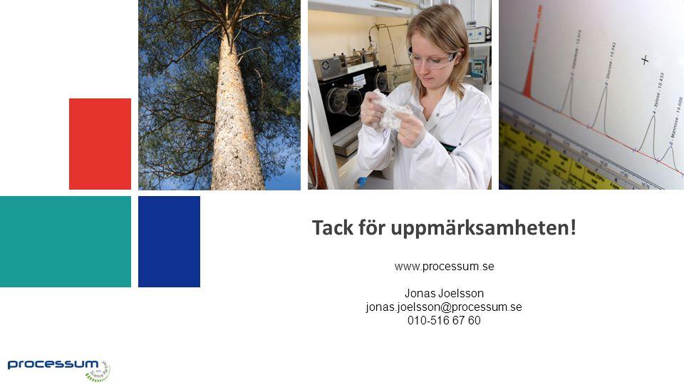 Tack för uppmärksamheten! www.processum.se Jonas Joelsson jonas.joelsson@processum.se 010-516 67 60