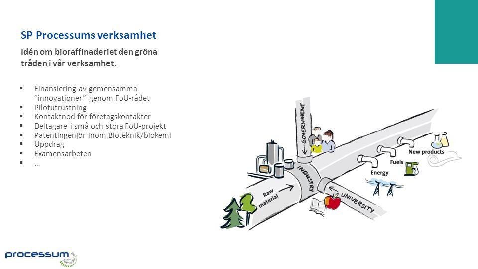 SP Processums verksamhet Idén om bioraffinaderiet den gröna tråden i vår verksamhet.