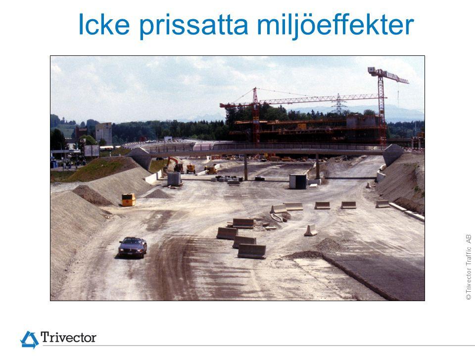 © Trivector Traffic AB Icke prissatta miljöeffekter