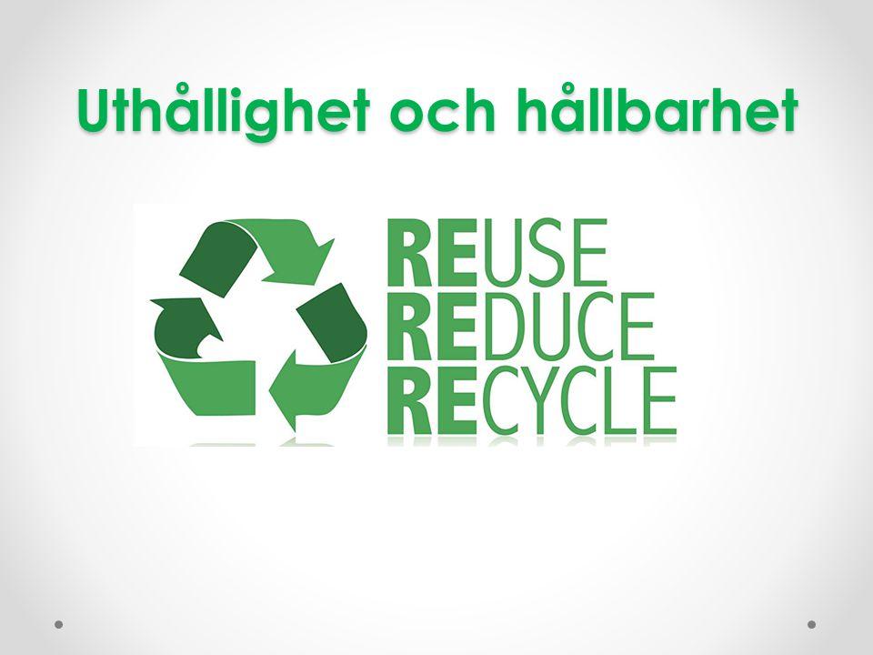 Uthållighet och hållbarhet