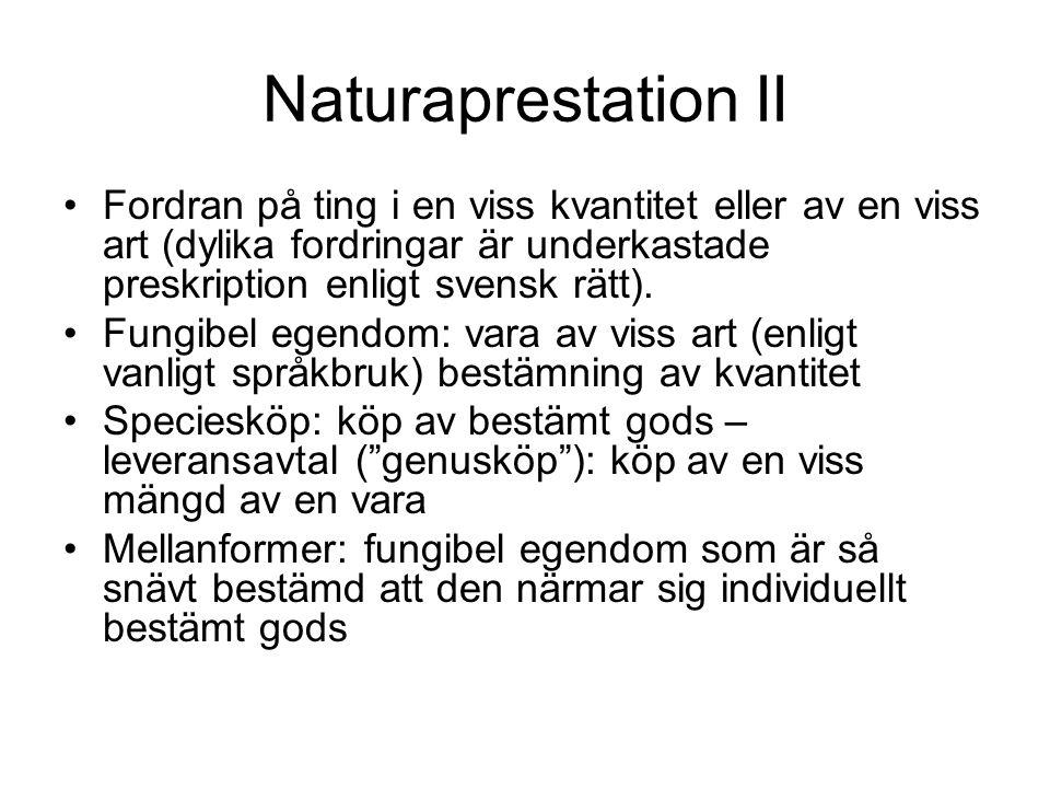 Specieköp - leveransavtal KöpL § 34 st.