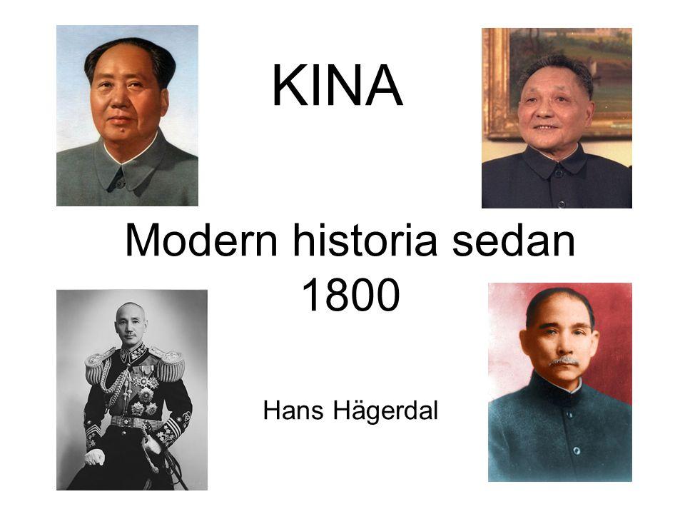 KINA Modern historia sedan 1800 Hans Hägerdal